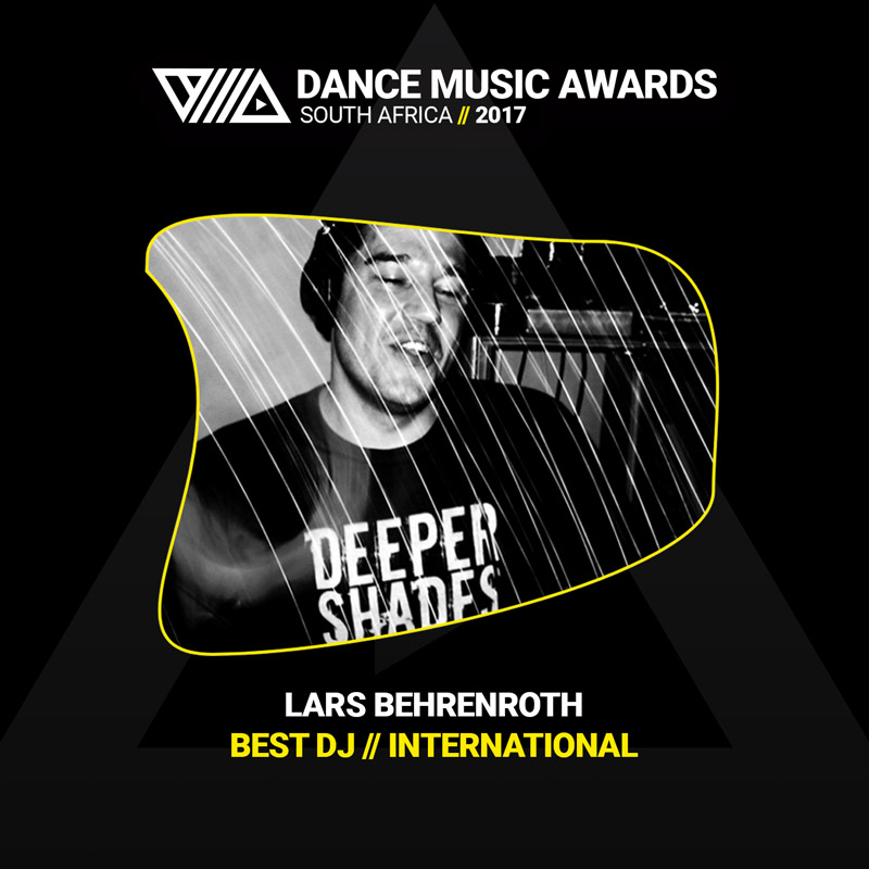 Lars Behrenroth wins Best International DJ Dance Music Awards South Africa