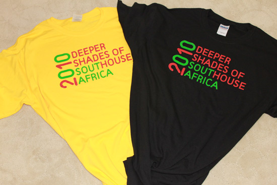 Deeper Shades T-Shirts South Africa 2010