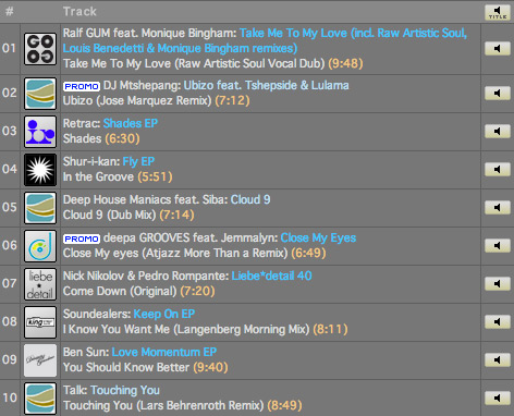 Lars Behrenroth Traxsource Top 10 September 2012