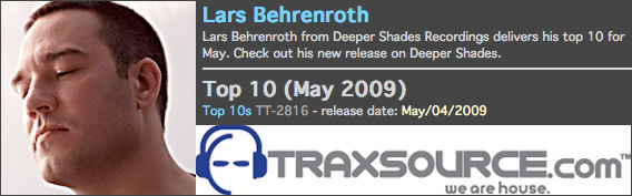 Lars Behrenroth Traxsource Charts May 2009