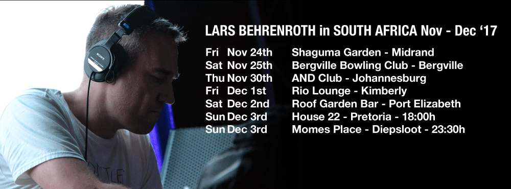 Lars Behrenroth South Africa Tour - November - December 2017