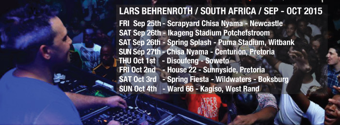 Lars Behrenroth in South Africa - September - October 2015