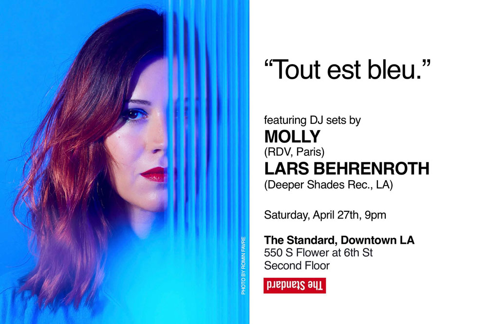 Saturday, April 27th - MOLLY (France) & Lars Behrenroth in Downtown LA