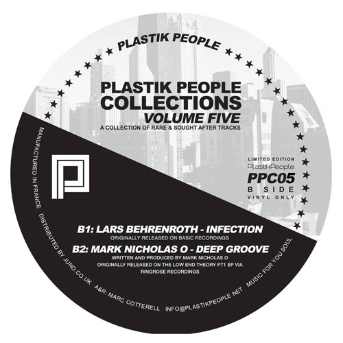 Lars Behrenroth - Inflection - Plastik People Collections Volume Five Vinyl