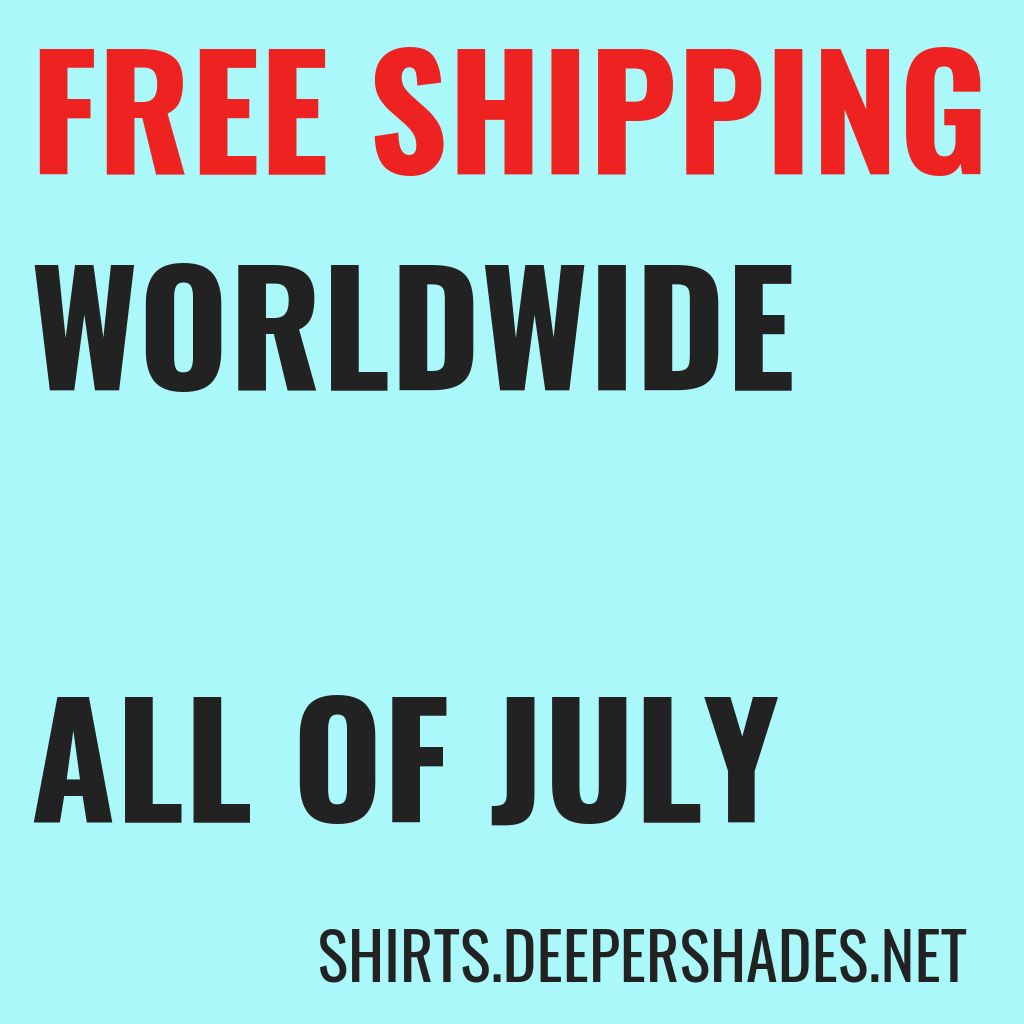 DSOH Merchandise FREEE SHIPPING WORLDWIDE IN JULY