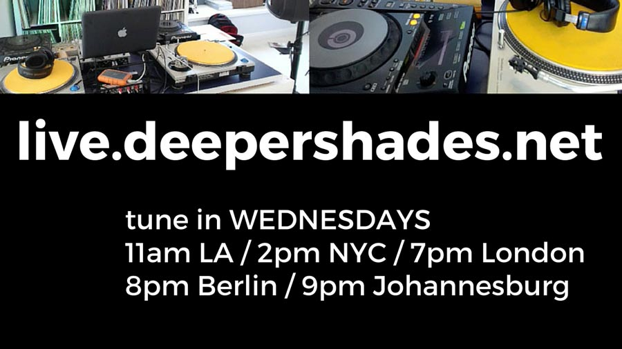 live broadcast from Deeper Shades HQ in California